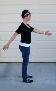 reciprocal arm swing both arms